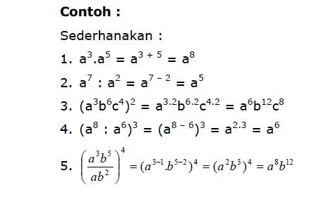 contoh bentuk pangkat